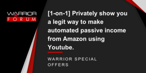 Thumbnail of [1-on-1] Privately show you a legit way from Amazon using Youtube..