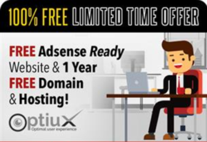 Thumbnail of [100% FREE - LIMITED TIME OFFER] FREE Adsense Ready Website and 1 Year Free Domain & Hosting!.