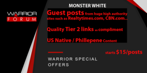 Thumbnail of Monster White - Manual Guest Posting from Huge High Quality Authority Sites - Only $15.