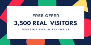 Thumbnail of 3,500 Real Website Visitors for FREE.
