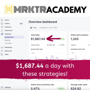 Thumbnail of The most COMPREHENSIVE Shopify course in the world- we're hitting $1,500/day with these strategies..