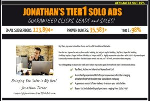 Thumbnail of [SOLO ADS] JONATHANS TIER1 SOLO ADS - GET 4000+ Clicks - 800+ Optins - SALES GUARANTEED!.