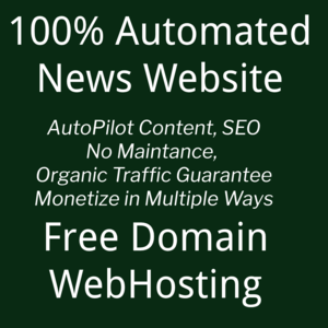Thumbnail of 100% Automated News Website - Organic Traffic, Monetization, SEO, Free Domain + Annual Webhosting.