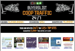 Thumbnail of [SOLO ADS] BUYERSLIST COOP TRAFFIC247 - GET 15,000+ CLICKS TO 125+ TOP SITES.