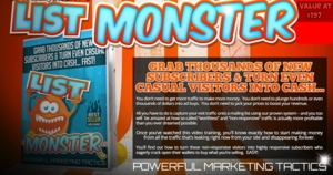 List Monster Academy Course - Stop losing your sales & visitors - Limited Offer! Thumbnail