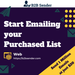 B2BSender - Send 1 Million emails on your purchased list at just $20 Thumbnail