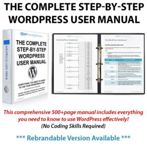 The Complete Step-By-Step WordPress User Manual & Rebrandable Version - 500+ Pages! Thumbnail
