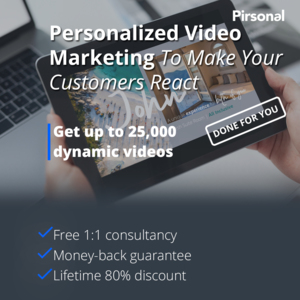 [DONE FOR YOU] Get up to 25,000 dynamic videos to help you SELL MORE - Personalized Video Marketing Thumbnail
