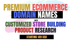 [Grow your Ecom Business] Premium Domain names, Customized Store building with Product Research Thumbnail