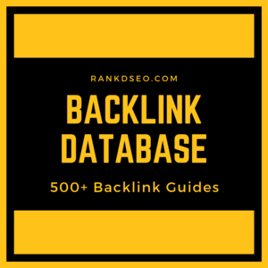 RankdSEO.com BACKLINK and GUEST POST database Thumbnail