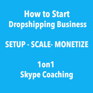 Dropshipping Business Coaching - Scale, Setup, Monetize - 1 on 1 Skype Coaching - Setup Included Thumbnail